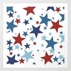 Stars - Red, White and Blue Art Print