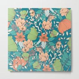 Botanical pattern 012 Metal Print