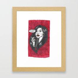 Nunca Mais Framed Art Print