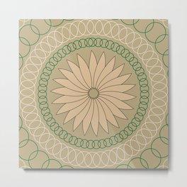 Kiwi inspired Pattern Metal Print