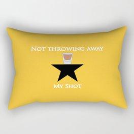 Not Throwing Away My Shot (Hamilton) Rectangular Pillow