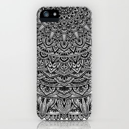 Zen Black and white Mandala iPhone Case