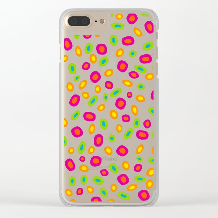Colorful Circles Abstract Print Clear iPhone Case
