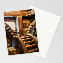 Wooden Gears Stationery Cards