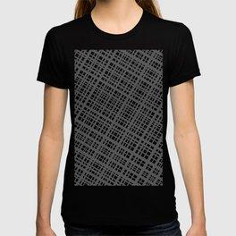 Bauhaus Grid, diagonal Gray & White pattern T-shirt