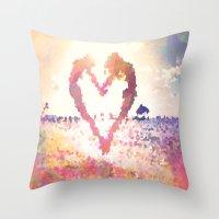 mermaids Throw Pillows featuring Mermaids by Darcy Lynn Designs