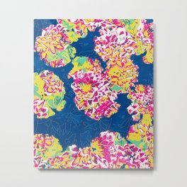 The soul becomes dyed with the color of its thoughts #floral #graphicdesign Metal Print