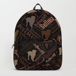Bullmastiff Dog Word Art pattern Backpack