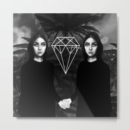 Twins & Palms Metal Print