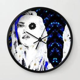 flower-punk style Wall Clock
