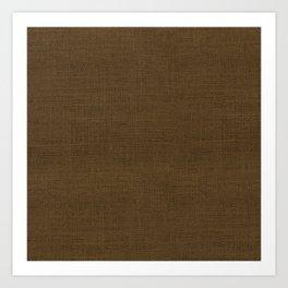 Dark Brown Christmas Burlap Cloth Art Print