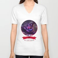 league of legends V-neck T-shirts featuring League Of Legends - Zac by TheDrawingDuo