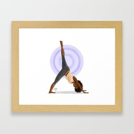Three-Legged Downward Dog Pose Framed Art Print