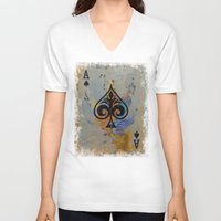 ace V-neck T-shirts featuring Ace by Michael Creese
