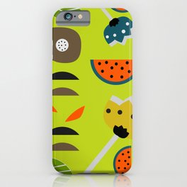 Modern decor with fruits and flowers iPhone Case