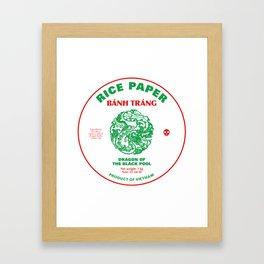 Banh Trang Rice Paper Framed Art Print