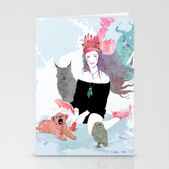 Fashion Sioux Stationery Cards