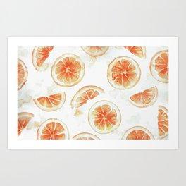 Tasty Oranges Art Print