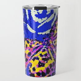 The Butterfly Affect #2 Blue Mosaic Travel Mug