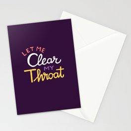 Clear Stationery Cards