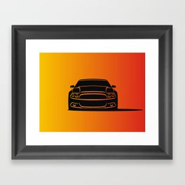 Muscle Car Framed Art Print
