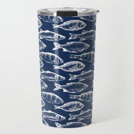 Fish // Navy Blue Travel Mug