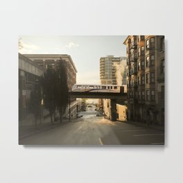 Morning Train Metal Print