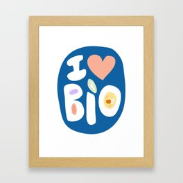 I LOVE BIOLOGY Framed Art Print