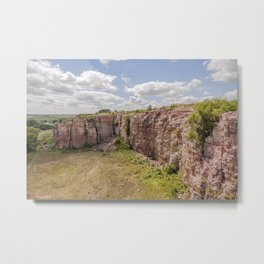 Clouds over Blue Mounds Park Quarry Metal Print