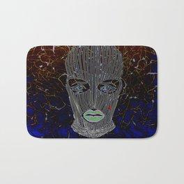 Masked Woman Bath Mat