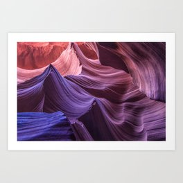 Purple Rocks at Antelope Canyon Art Print