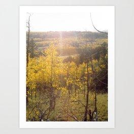 Shining Down on Rocky Mountains Art Print