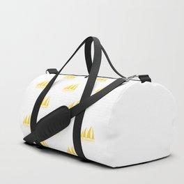 Yellow Sailboat Pattern Duffle Bag
