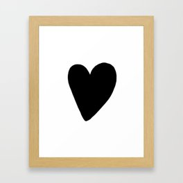 Black Heart, kids room and nursery deco Framed Art Print