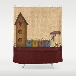 Primitives Shower Curtain