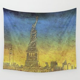 Lady Liberty #4 Wall Tapestry