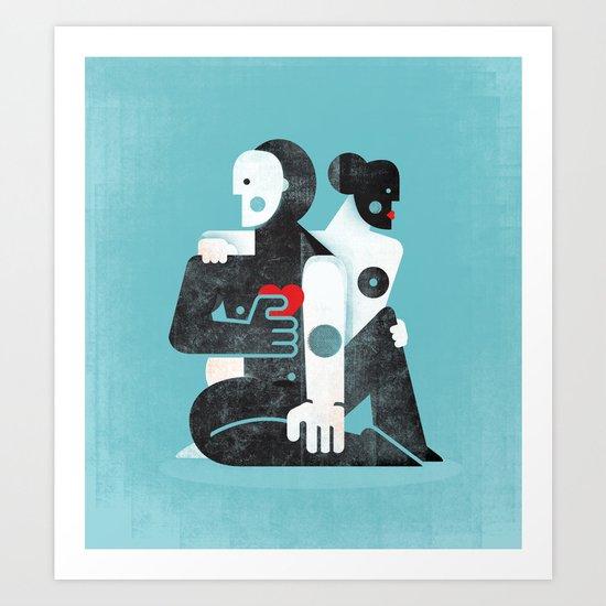 Man & woman ... Art Print