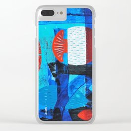 Anchor fish Clear iPhone Case