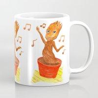 groot Mugs featuring Baby Groot by gunberk