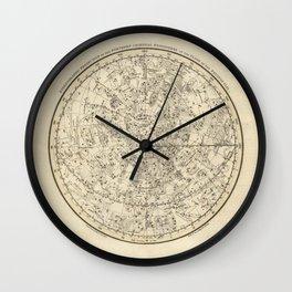 Vintage Celestial Map Wall Clock
