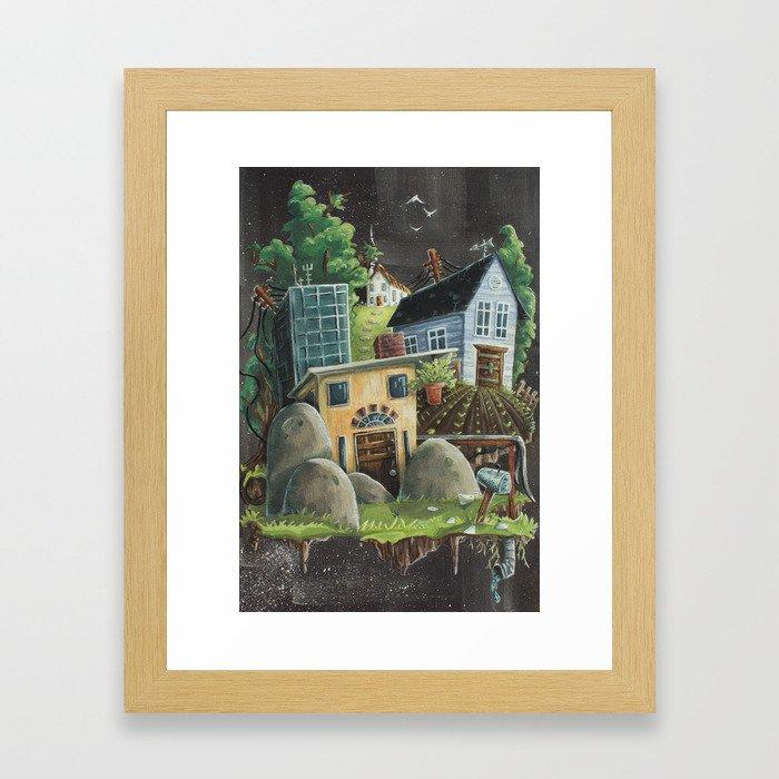 Isolated Chaos Framed Art Print