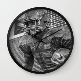 Tim Tebow Statue Print Wall Clock