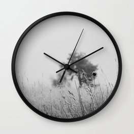 Black & White nature print Wall Clock