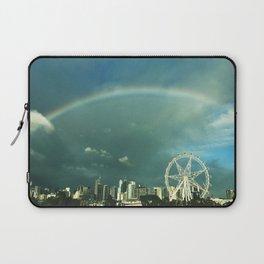 Rainbow over Melbourne Laptop Sleeve