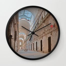 Abandoned Prison Corridor Wall Clock