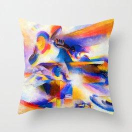 Stanton Macdonald Wright Airplane Synchromy Throw Pillow