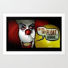 They Float, Georgie Art Print
