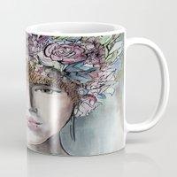 headdress Mugs featuring Headdress  by Talitha Etters