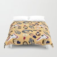 battlestar Duvet Covers featuring So Say We All by frauholle