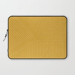 Lines / Yellow Laptop Sleeve